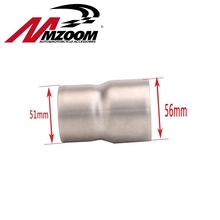 51mm to 60mm Convertor Adapter Stainless Steel Motorcycle Exhaust Connector Motorbike Connecting Link Down Pipes