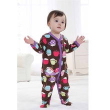 Newest Baby Rompers foot Baby girl clothes jumpsuit velvet Baby Pajamas Romper One-piece Clothes baby boy clothes ropa bebe(China)
