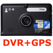 "7"" Car dvrs Recorder GPS Navigation Full HD 1080P Capacitive Screen android FM WIFI Truck vehicle gps Built in 8GB Free Map"
