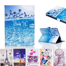 Fashion Cartoon Painted Case Cover For Apple New iPad 9.7 2017 Funda cases For iPad Air 1 2 iPad Pro 9.7 PU Leather Stand Shell(China)