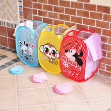 2017 New Folding Clothing Storage Basket Folding Children  Basket Laundry Clothes Basket Toys Shoes Sundries Storage Organizer