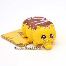 Squeeze Palmerworm Phone Straps Soft Toy Rubber Decompression Cartoon Simulation Cellphone Charm Slow Rebounding Pendant
