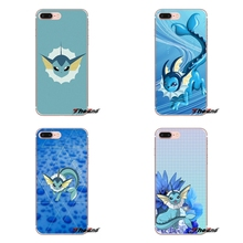 Silicone Cover Bag Apple iPhone X 4 4S 5 5S SE 5C 6 6S 7 8 Plus 6sPlus 6Plus 7plus 8plus cute cartoon anime pokemon vaporeon
