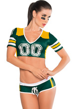 Sexy Cheerleader Costumes Short Sleeve Sports Cosplay Women Uniform Lady Women Fashion Fantasy Sporty Costume for Women E8891