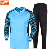 Survetement Football 2017 Men Soccer Full Goalkeeper Set Football Training Jersey Kits Goalie Goalkeeper Suit Goalkeeper Uniform