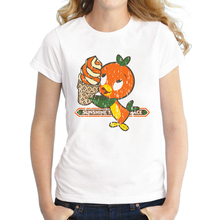 2017 Summer T shirt Women Lovely Florida Orange Bird Shirt Good Quality Comfortable Breathable T-Shirts(China)
