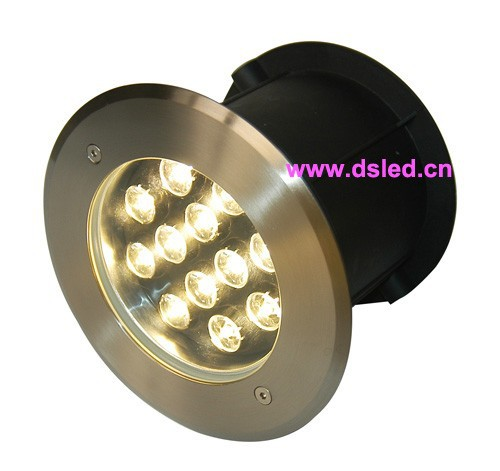 Stainless steel,CE,IP68,high power 12W recessed LED underwater light,LED pool light,DS-11S-20-12W,12X1W,D180mm,12V DC<br>