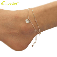 Diomedes Gussy Life Wholesale 1 PC Fashion Women Rose Anklet Bracelet Sandal Barefoot Beach Foot Jewelry Jan11