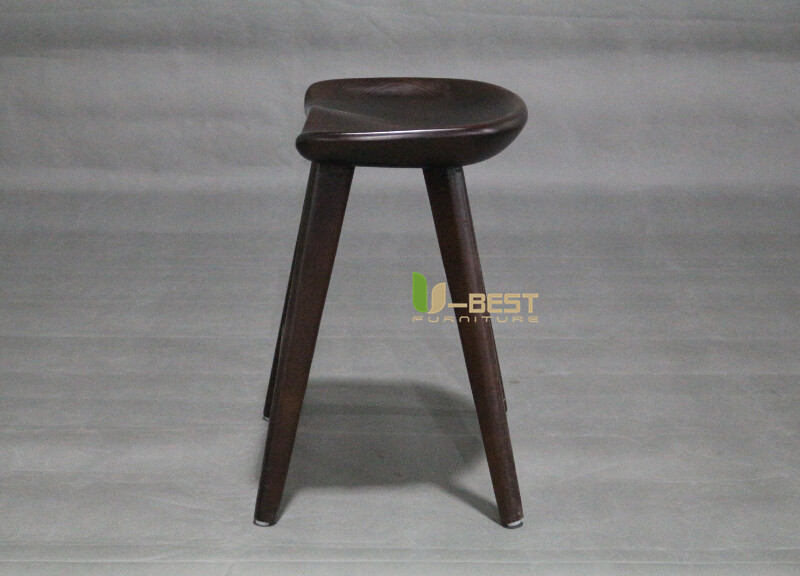 dark walnut low tractor barstool u-best stool (3)