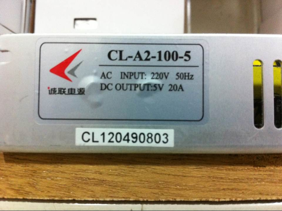 Single Phase 20A 5V 100W Stabilization Voltage Power Supply for Display Screen CL-A2-100-5<br>