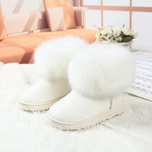 Children Winter Fur Boots Kids Snow Boots For Girls And Boys,Child Winter Warming Shoes Fashion Thicken Cotton-Padded Boots