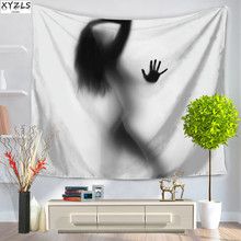 XYZLS Creative People Polyester Tapestry 150x200cm Beach Towel Yoga Mat Wall Hanging Table Cloth Sofa Cover 150*130cm
