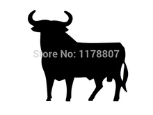 Hot Sale Sticker Stickers Decal Vinyl Decals For Car Window Truck SUV Bumper Door Kayak Spain Spanish Bull 9 Colors(China)