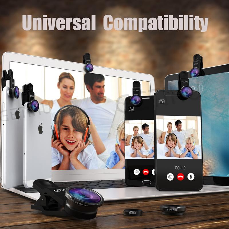 Universal Fisheye Lens 3 in 1 Mobile Phone Clip Lenses Fish Eye Wide Angle Macro Camera Lens for Smartphone iPhone 6 Microscope 4