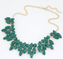 2016 Summer Style Collares Mujer Statement Necklaces & Pendants Imitated Gemstone Jewelry Collier necklace for Women Accessories