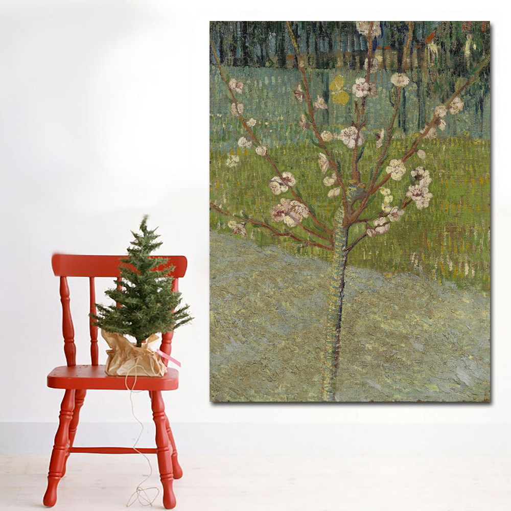 Almond Tree in Blossom-70x95