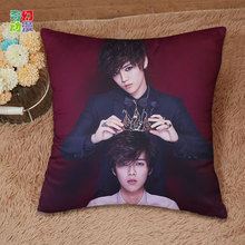 Free Shipping Korean Idol Group Pillowcase EXO Luhan Pillow Cover 40cmx40cm one side and two side printed pillowcase