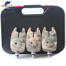 Free shipping Manufacturer fishing bite alarm JY-40 camo with 3pcs alarms +3pcs batteries for swinger(China)
