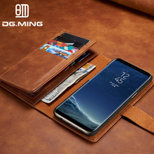 For Samsung Galaxy S8 Case Luxury Genuine Leather Wallet Stand Phone Back Cover For Samsung Galaxy S8 S8 Plus With Card Holder(China)