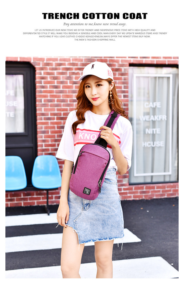 Bolsas Feminina Promotion Zipper Solid 2018 New Headphone Hole Bag Canvas Chest Leisure Messenger Femal Waterproof Anti-theft