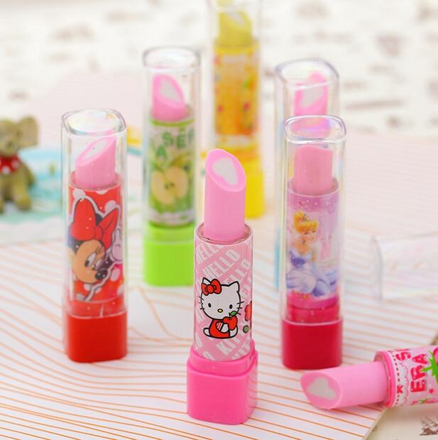 F33 2X Hello Kitty Eraser material escolar material escolar borracha escolar Kid Child Gift lipstick school supplies stationery<br><br>Aliexpress