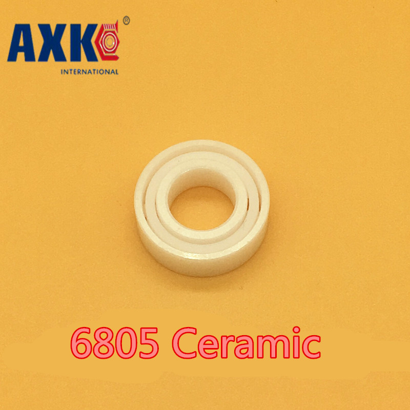 Axk 6805 Ceramic Bearing ( 1 Pc ) 15*45*9 Mm Zro2 Material 6805 Ce Full Ceramic Sic 61805 Ball Bearings<br>