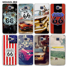 MOUGOL volkswagen bus America Route 66 design hard transparent Phone Case Case for Samsung Galaxy A7 2017 A710 A8 A3 A5 2016(China)