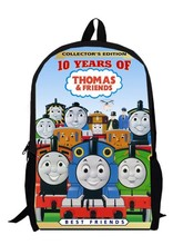 13inch little trains backpack children primary School train Kids Cartoon train bag kindergarten men custom made