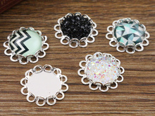 Buy 14pcs 12mm Inner Size Silver Plated Brass Material Simple Style Cabochon Base Cameo Setting Charms Pendant Tray (A1-11) for $1.48 in AliExpress store