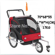 Aluminum alloy frame baby stroller bike trailer kids jogger stroller Bike Tandem bicycle trailer(China)