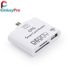 CinkeyPro OTG Card Reader Smart 5 in 1 Micro USB Adapter Connection Kit 2.0 Hub Cable Phone Accessories For Samsung Android