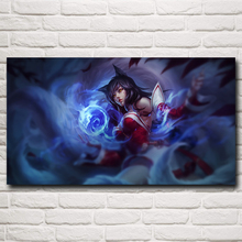 Ahri League Of Legends LoL Video Game Art Silk Poster Print Home Wall Decor Printing 11x20 16x29 20x36 Inches Free Shipping