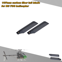 Carbon Fiber 107mm Tail Blades for Align Trex 700 RC Helicopter