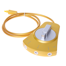 Digital Audio Optical Fiber Cable Toslink 3-Way Selector Switch 3 To 1 Gold for MD/DVD/VCR/CD player