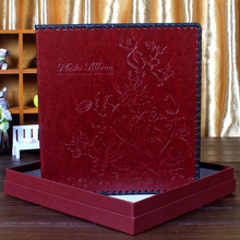 Leather DIY big film covered, self adhesive album, family wedding