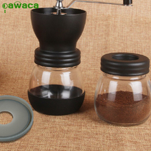 Pawaca Manual Coffee Grinder 1pcs High Quality Mini Portable Burr Corn Mill Bean Hand Crank Cafe Maker Machine Coffee Tools