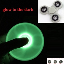 Luminous Tri-Spinner Fidget Toy Plastic EDC Hand Spinner For Autism and ADHD Anxiety Stress Relief Focus Toys Kids Gift