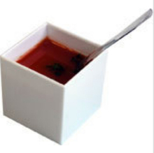 Promotion - Party Suppliers, Disposable Plastic Tableware, 40*40*40mm (50ml) White Mini Dessert Cube Cup/Bowl, 20/Pack