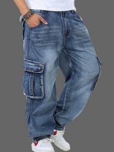 VXO Baggy Jeans Skateboard Multi-Pockets Denim Joggers Tactical Men's Plus-Size for 30-46
