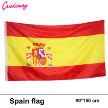 90x150cm spain flag 3x5 Feet Super Poly football FLAG Indoor Outdoor Polyester Flag National Pennants world cup Flag(China)