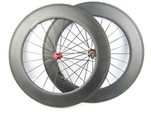 promotion 88mm tubular carbon bike wheels cycle racing wheel set 700C hot sale