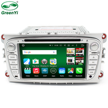 GreenYi 2 Din RAM 2GB/32GB Android 6.0 PC Car DVD GPS For Ford Focus C-MAX Galaxy Mondeo Galaxy Kuga With 4G WiFi Stereo Radio(China)