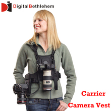 MICNOVA Carrier II Multi Camera Carrier Photographer Vest with Dual Side Holster Strap for Canon Nikon Sony DSLR Camera