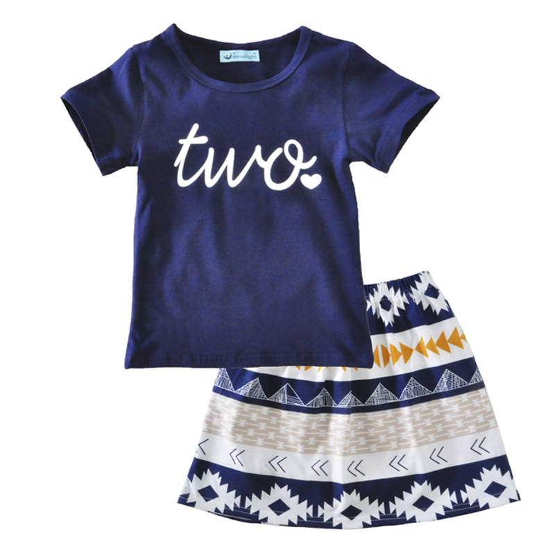 Baby girl clothing set letter summer 2017 toddler girls clothes set short sleeve t shirt+skirt kids clothing set for little girl<br><br>Aliexpress