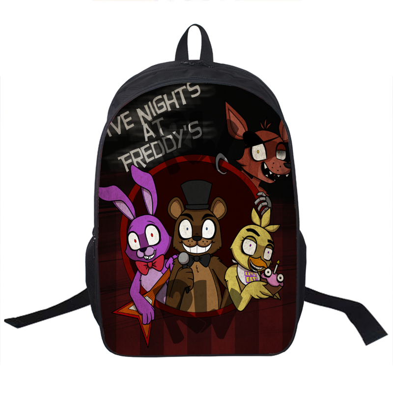 Anime Five Nights At Freddy Backpack For Teenagers Boys Girls School Bags Five Nights At Freddys Bag Children School Backpacks<br><br>Aliexpress