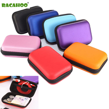 Buy RACAHOO Zipper Hard Earphone Case EVA Leather Headphone Storage Bag Protective Usb Cable Organizer Portable Earbuds Pouch Box for $1.49 in AliExpress store