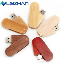 LEIZHAN Wooden USB Flash Drive Special Design Engrave Logo Pen Drive Pendrive 64g 32g 16g 8g 4g USB Stick Computer Memory Card