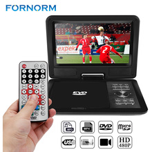 "Fornorm 9"" 720P LCD HD DVD Player 270 Degree Swivel Screen Portable Digital Multimedia With FM Radio TV Game Player(China)"