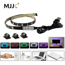 USB LED Strip Light TV Backlight 5V Waterproof RGB SMD 5050 LED Ribbon Tape Lights for the Computer PC Decoration Lighting