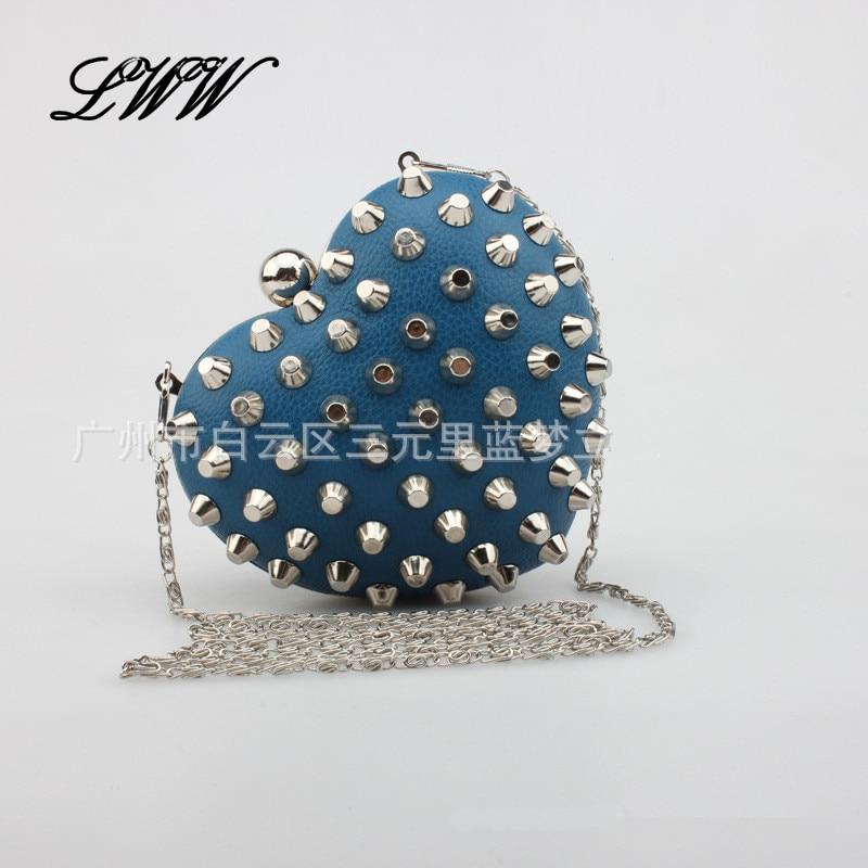 Vintage Noble Mini Evening Clutch Bags Love Designer Fashion Rivets Women Shoulder Bags Exquisite Crossbody Bag for Girl<br><br>Aliexpress